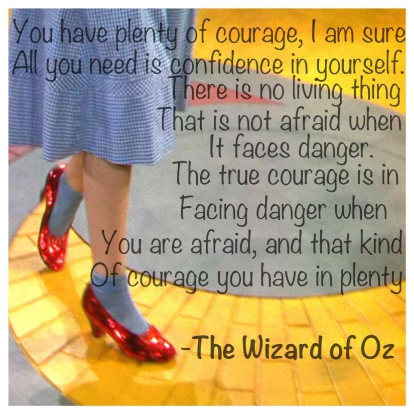 Wizard of Oz Courage Quote